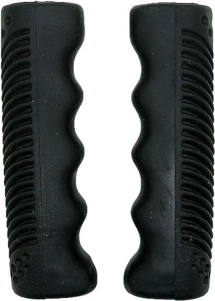 Puños Clasicos Goma PVC Elasticos Color Negro para Bicicleta ...