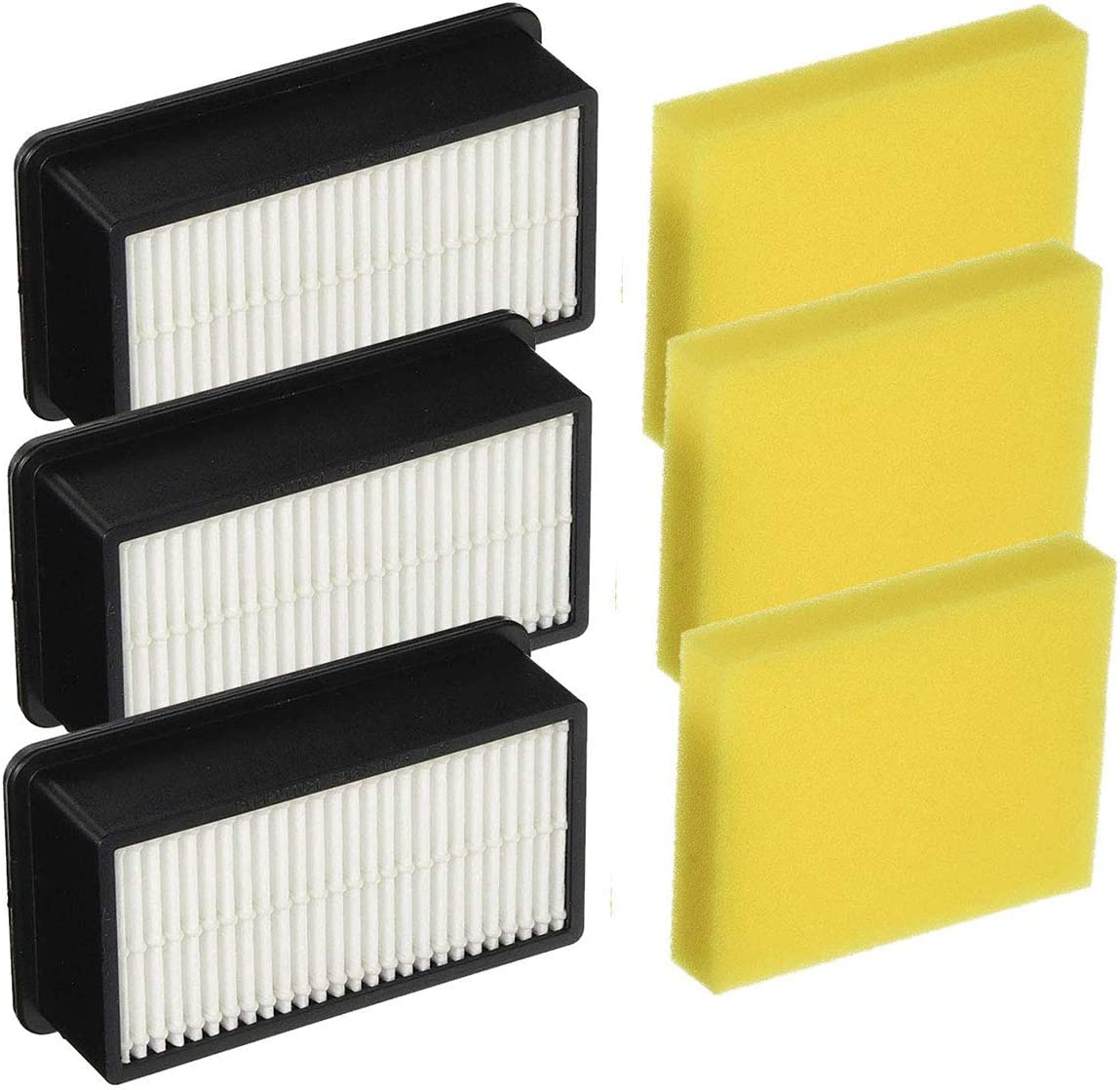 Mochenli Replacement Filters for Bissell 1008 CleanView Vacuums,3 Pack HEPA Filters + 3 Pack Post-Motor Filters, Compare to Part 2032663 & 1601502