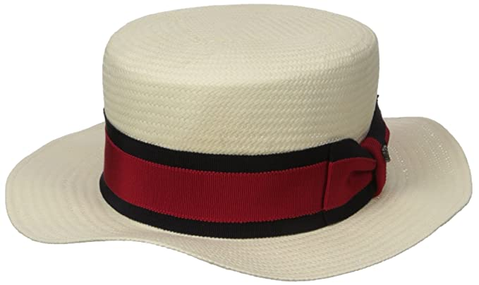 2093f1bcdf367 Hickey Freeman Mens Toyo Straw Paper Boater Hat Hat  Amazon.ca ...