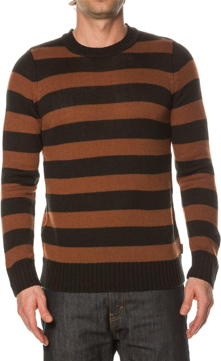 BRIXTON Knit Pullover GULLY, schwarz Braun L