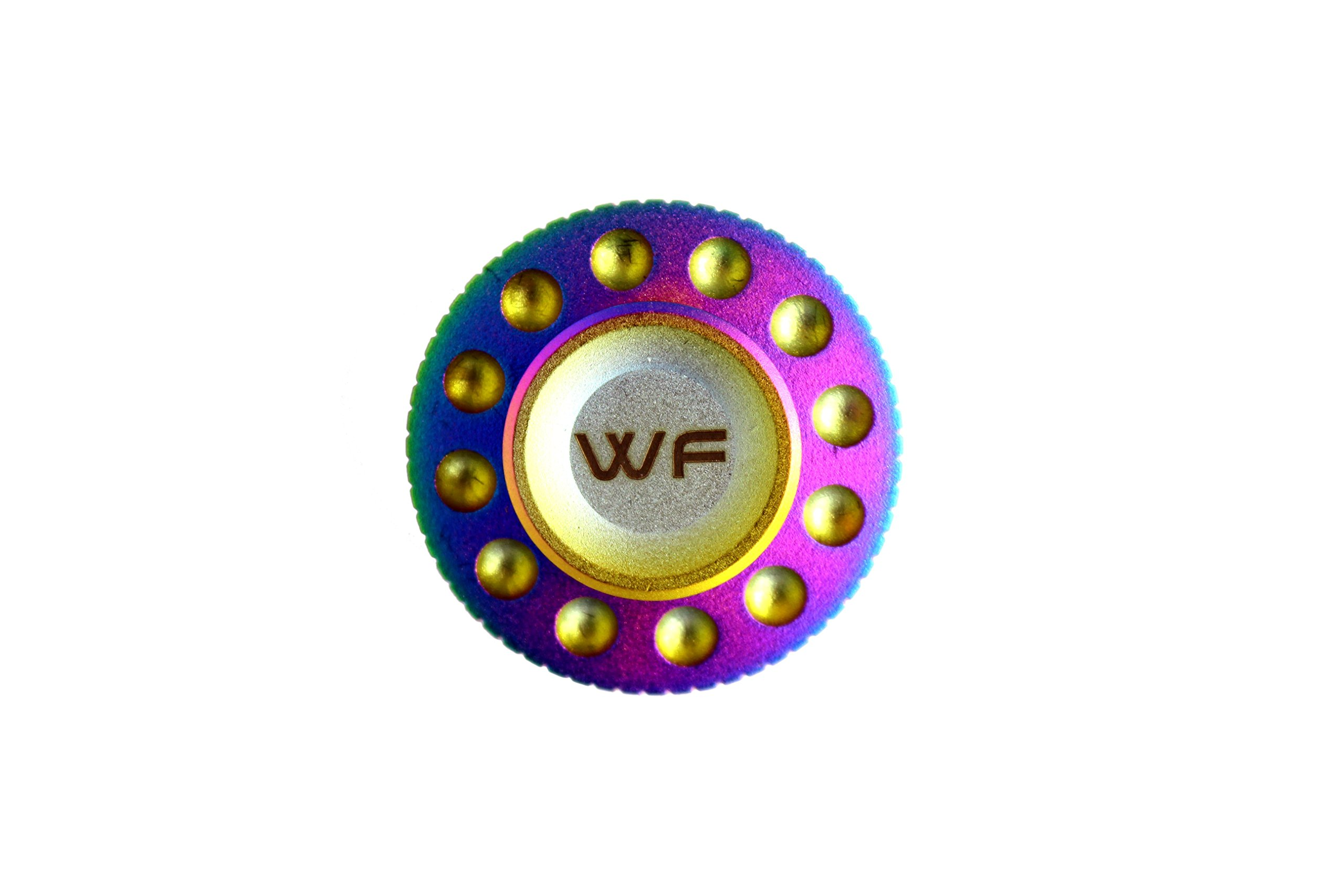 WeFidget Original Mini UFO Fidget Spinner, Super Discrete, Premium Finish, Replaceable Bearings.