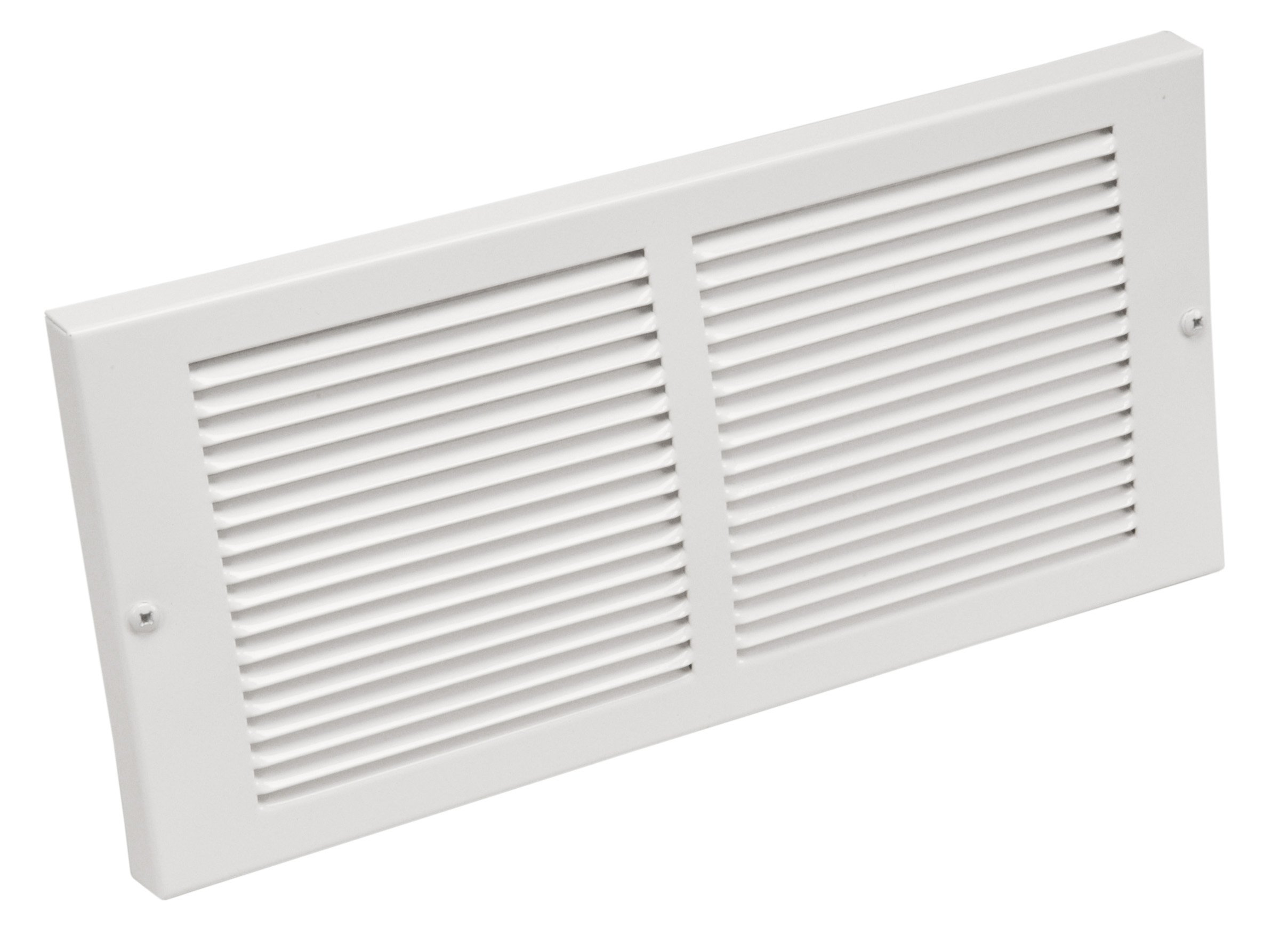 Imperial 14'' x 6'' Painted Metal Baseboard Grille, White, RG0033