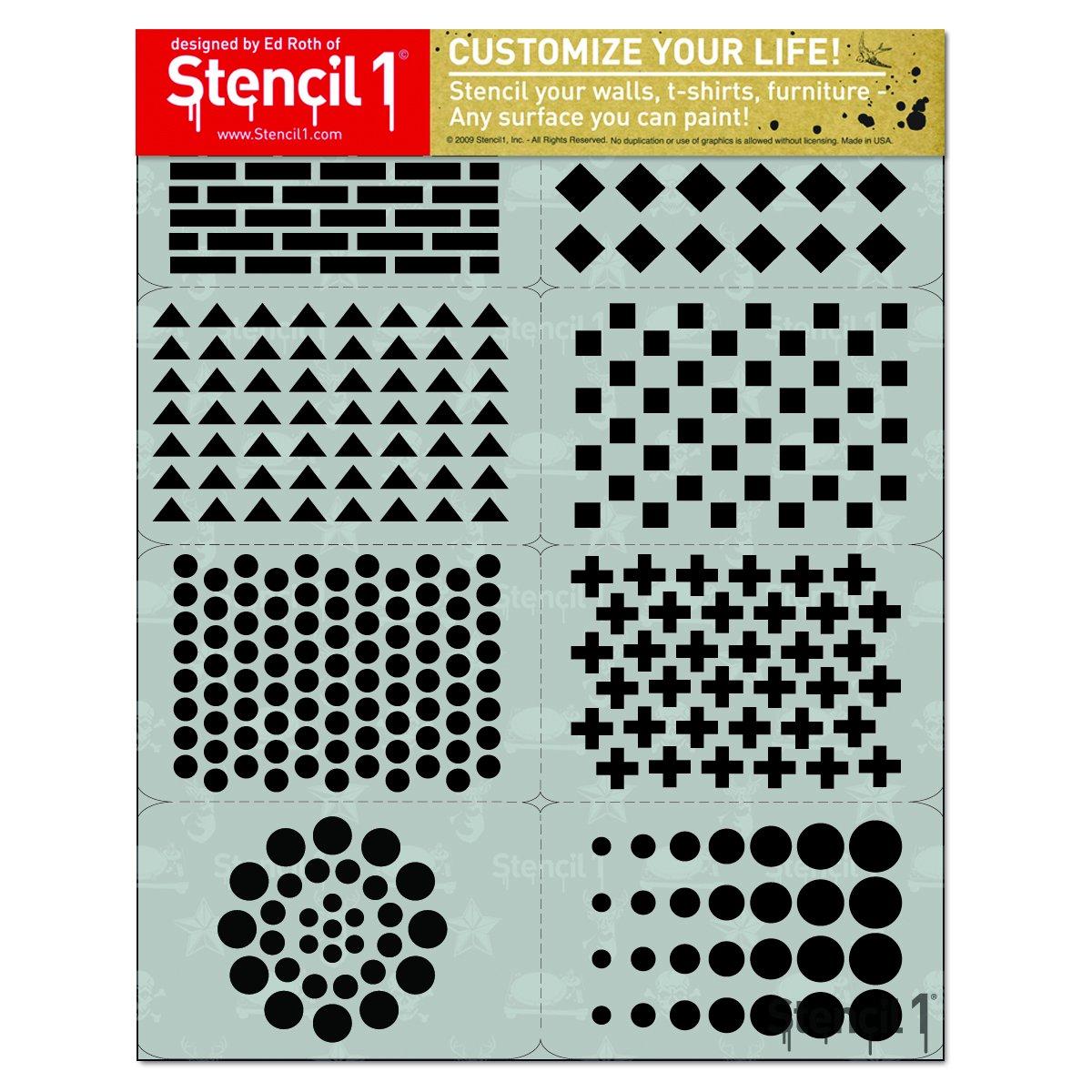 パターン 8パック ステンシルセット   B07628BQTF