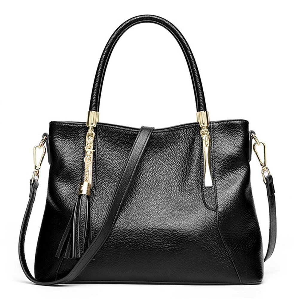 Women Genuine Leather Hobo Bags Soft Shoulder Handbags Supple Lady Satchels