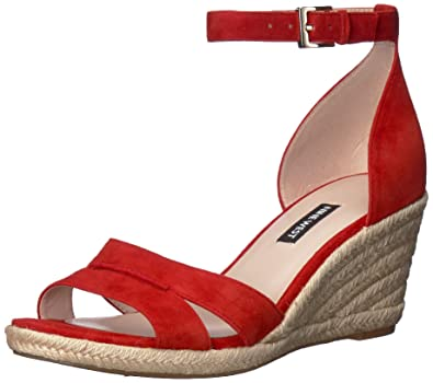 f0b6b5a9bd2 Nine West Women's Jabrina Suede Wedge Sandal