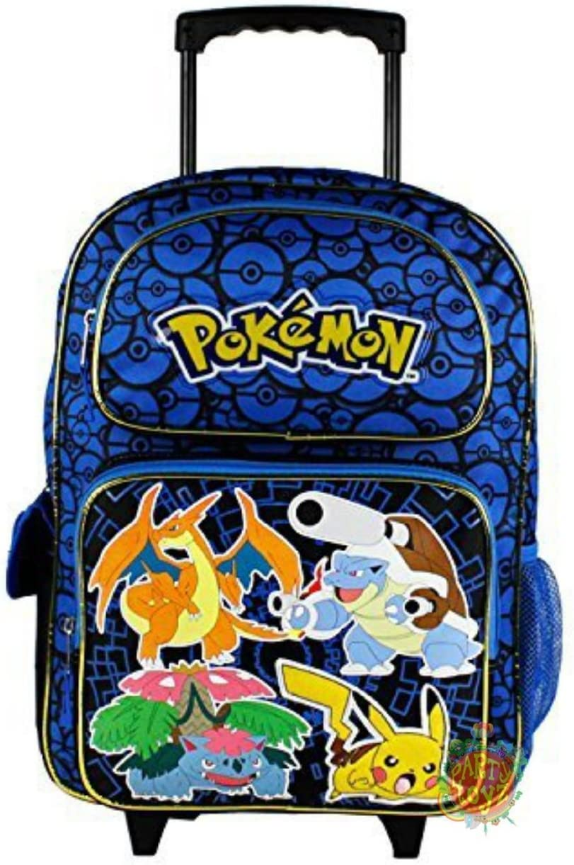 Grand trolley POKEMON bleu Disney PRIMAIRE sac a dos cartable