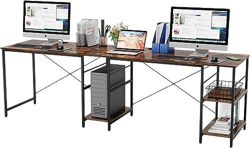 Bestier Industrial 95″ Long Desk