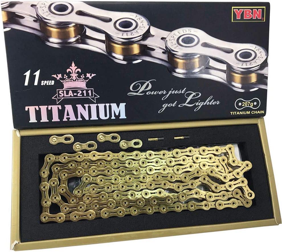 YBN Super-light Chains SLA-211 Titanium 11 Speed Bike Chain Cycling 207g Silver