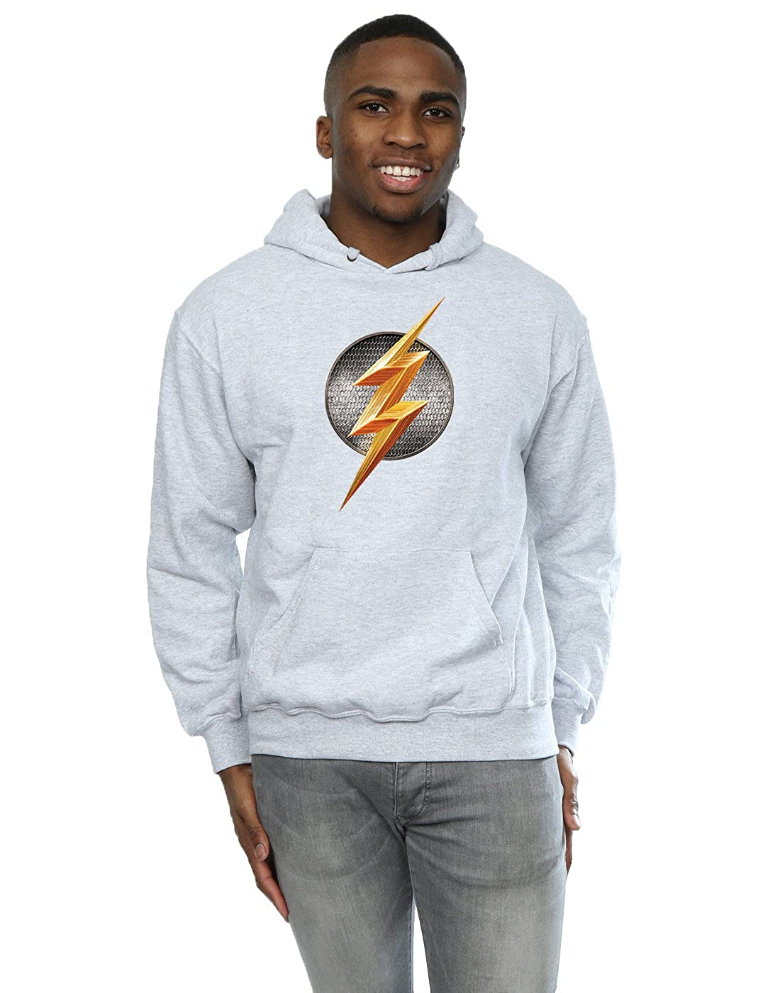 DC Comics Herren Justice League Movie Flash Emblem Kapuzenpullover
