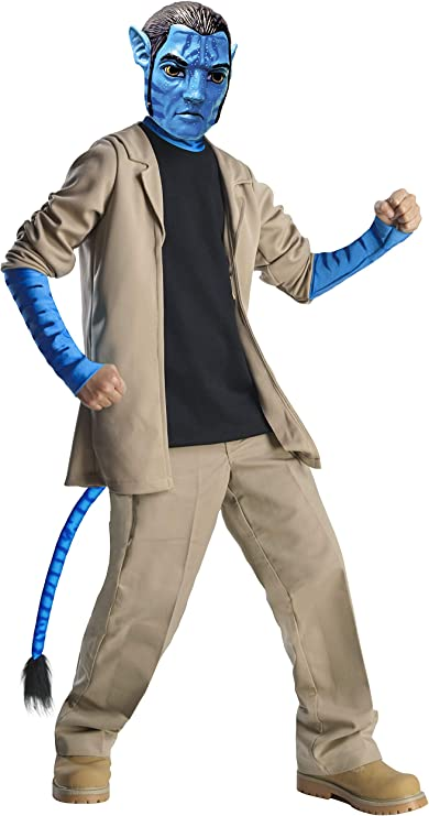 Jake Sully Adult Deluxe Costume Size Standard Cheap Closeout Avatar Movie