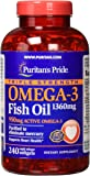 Puritans Pride Triple Strength Omega-3 Fish Oil 1360 mg (950 mg Active Omega-3)-240 Softgels