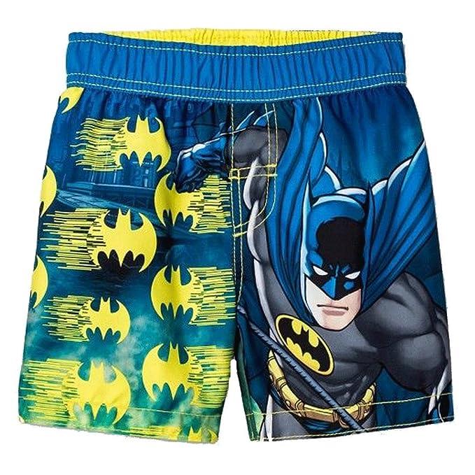 7a3f00c36b Amazon.com: DC Comics Batman Little Boys' Toddler Swim Trunks (2T ...