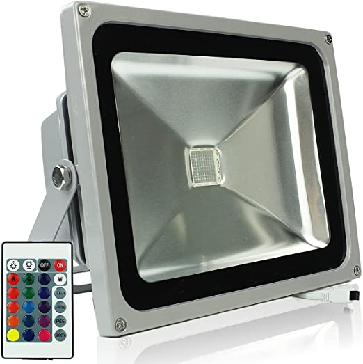 Foco LED de exterior RGB, proyector para decoración de iluminación ...