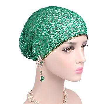 4639b75d8 Buy Women Fashion and Elegant Lace Hat Beanie Head Wrap Cap Chemo ...