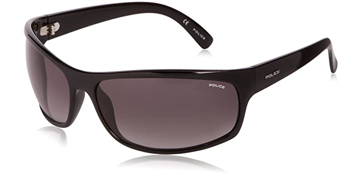 Police - Gafas de sol Rectangulares S1863 SPECTRUM 1, Shiny Black: Amazon.es: Ropa y accesorios