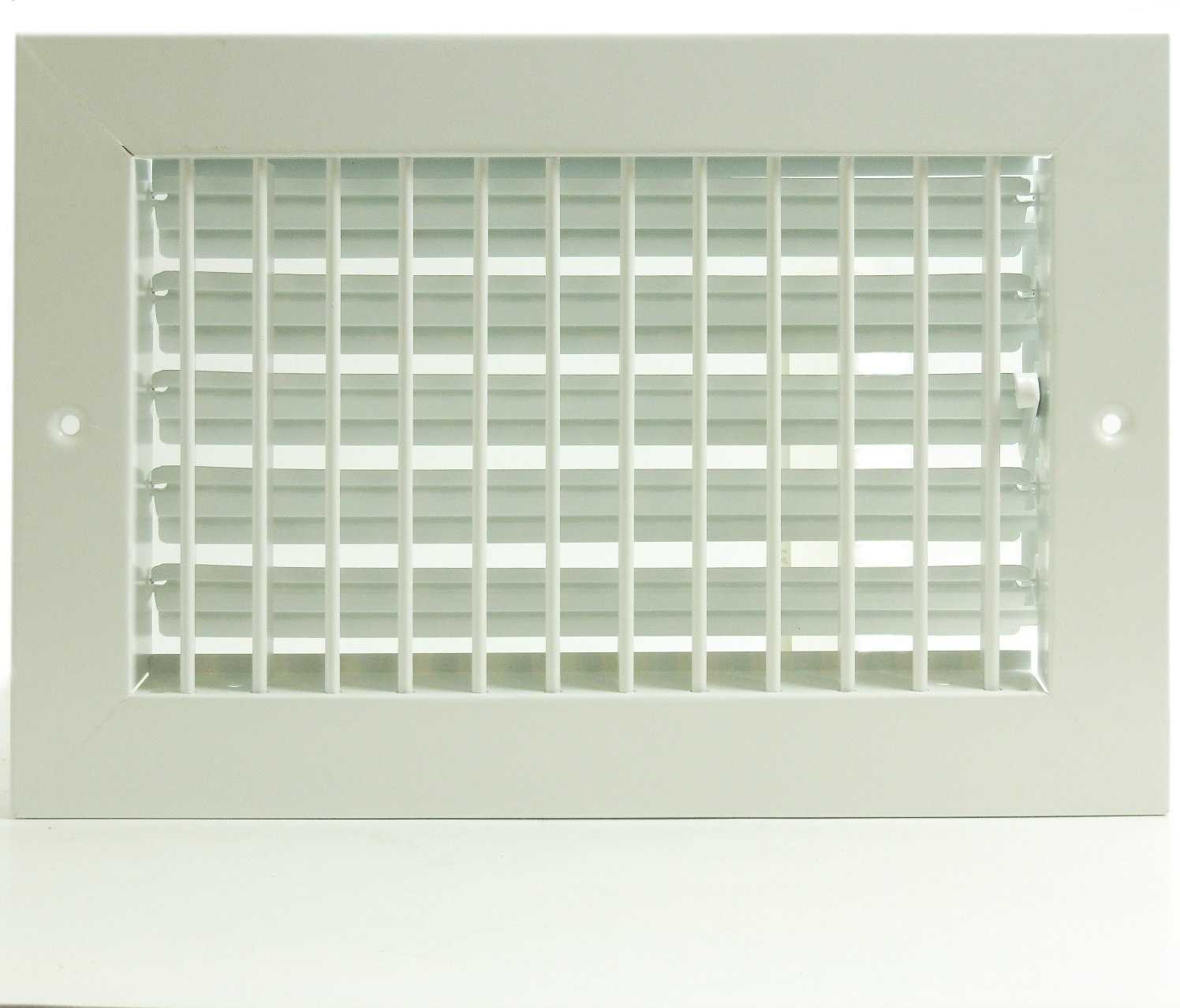 16'' X 4'' ADJUSTABLE AIR SUPPLY DIFFUSER - HVAC Vent Duct Cover Sidewall or Cieling - Grille Register - High Airflow - White
