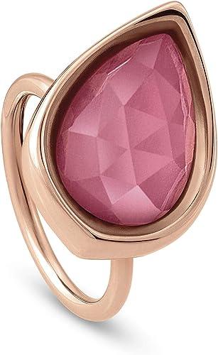 bague en argent avec pierre rose
