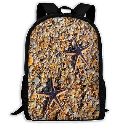 51253a67b0 Amazon.com  Backpack Beach Starfish Custom Personalized Womens School Hiking  Backpack Fabulous Gift  Computers   Accessories
