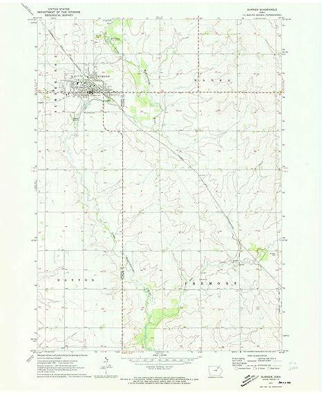Sumner Iowa Map.Amazon Com Yellowmaps Sumner Ia Topo Map 1 24000 Scale 7 5 X 7 5