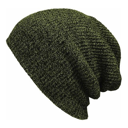 4d39a9f984e Amazon.com  PIXNOR Men s Wool Blend Knit Beanie Hat Slouchy Winter ...