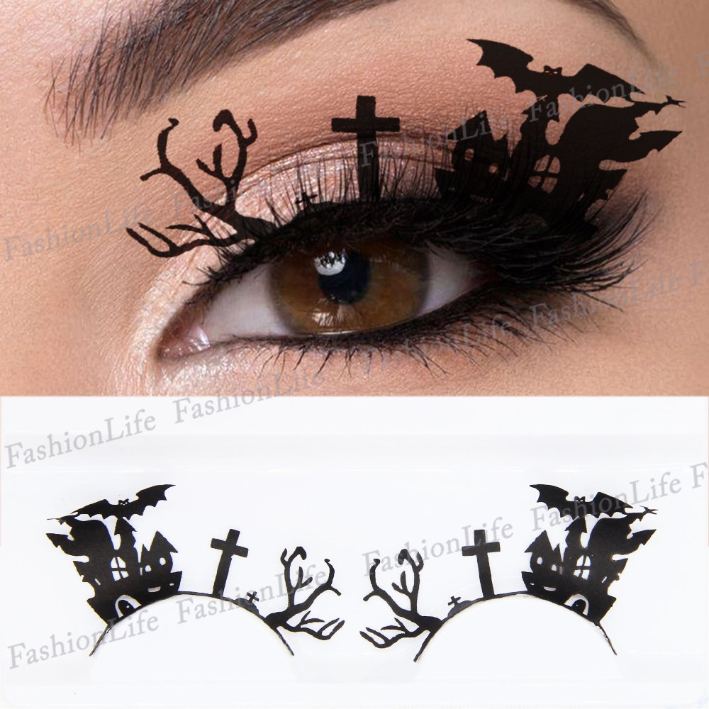 Ojos Fiesta Lazos Temporales Lazos Tatuaje Pestañas Postizas Maquillaje Halloween Calcomanías Tatuaje Halloween - ETP283 - FashionLife