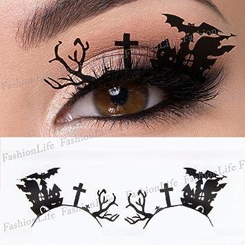 9e1cdeec568 Party Eyes Temporary Lace Tattoo Lace False Eyelashes Halloween Make-Up  Stickers Halloween - ETP283