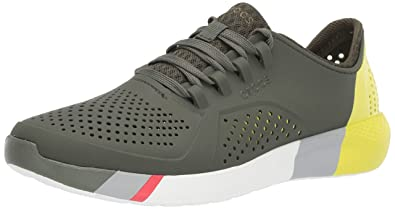 d6ef896667e2 crocs Men s LiteRide Colorblock Pacer M Green Sneakers-M13 (205788-37P-M13
