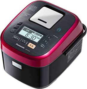 Panasonic W dance cook steam & variable pressure IH jar rice machine 1.0L 0.5 ~ 5.5 Go Rouge Black