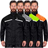 Viking Cycle Reflective Waterproof Motorcycle Rain 2 Piece Gear Suit for Men