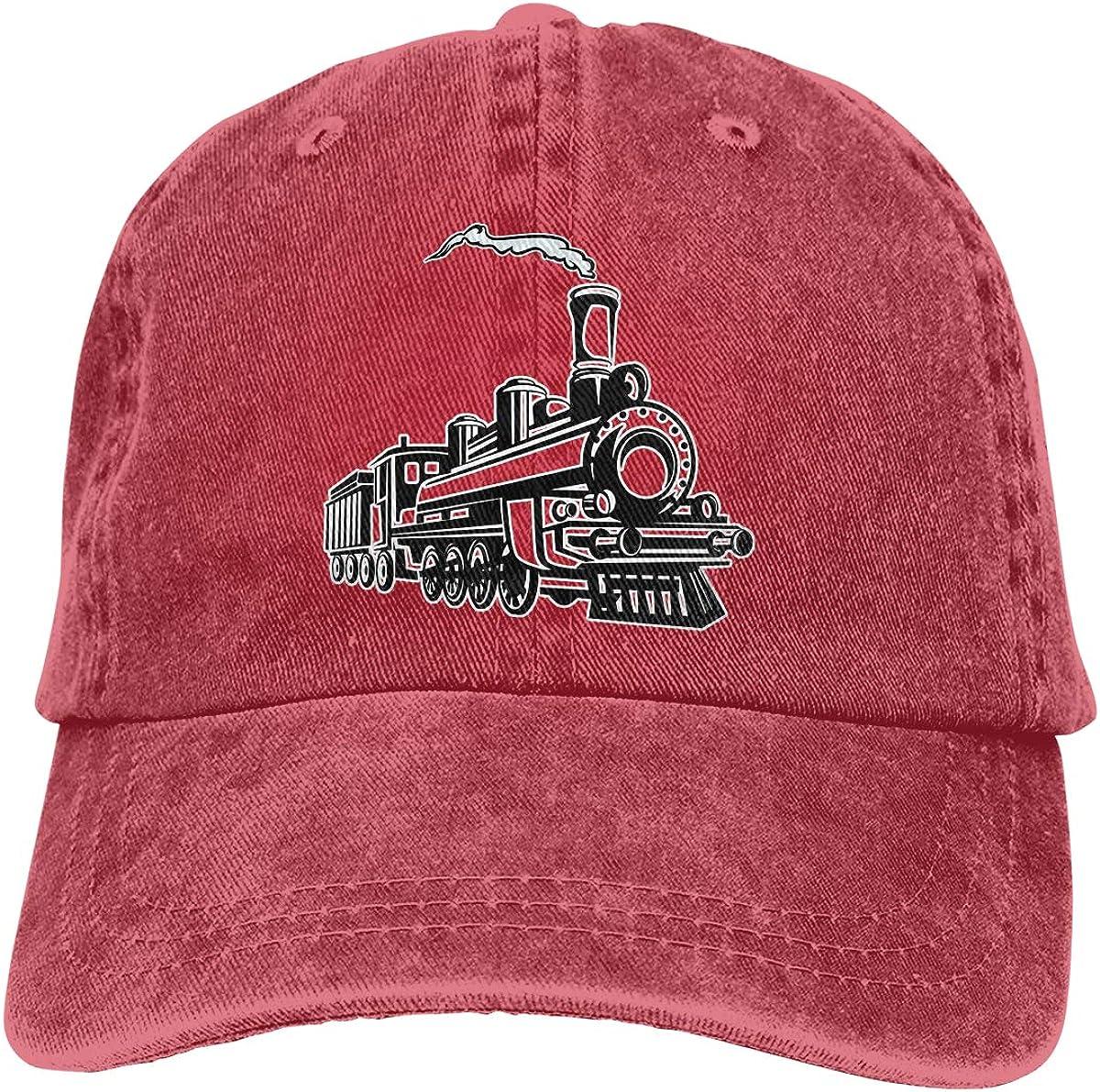Men Women Vintage Trains Vintage Washed Dad Hat Cute Adjustable Baseball Cap