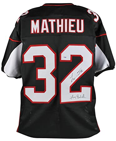 Cardinals Tyrann Mathieu Honey Badger Signed Black Jersey Psa