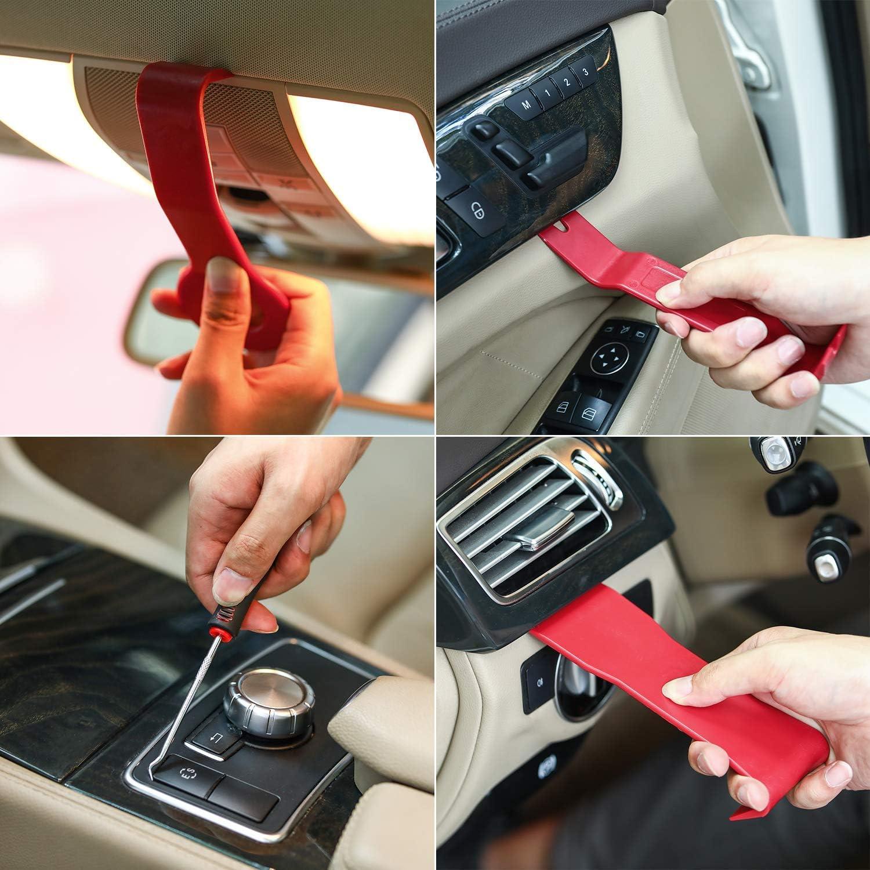 Car Door Audio Panel Trim Removal Set Kohree 32PCS Auto Trim Removal Tool Kit Automotive Plastic Upholstery Removal /& Install Pry Tool Kit with Storage Bag