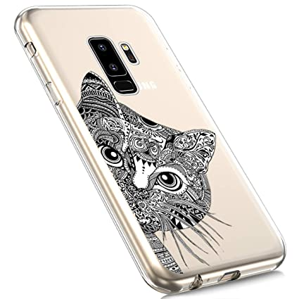 Galaxy S9 Plus Silicone Case,MoreChioce Fashion Creative Painted Pattern Design Slim Transparent Silicon Protective