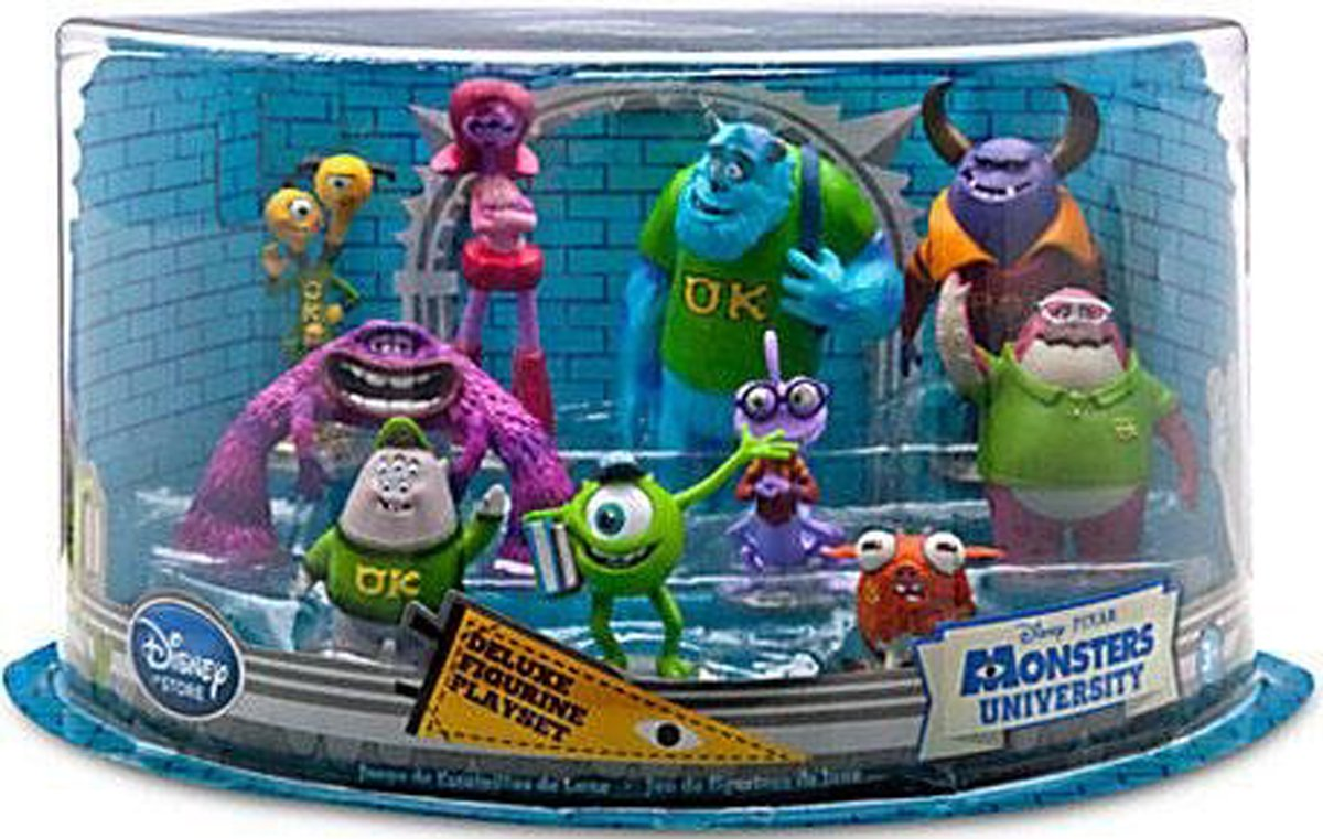 Amazon disney pixar monsters university exclusive 10 piece amazon disney pixar monsters university exclusive 10 piece deluxe pvc figurine playset toys games voltagebd Gallery