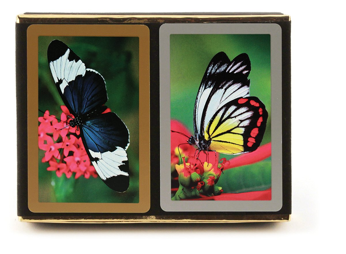 Congress Butterfly Playing Cards - Standard Index (Pack of 2) by Congress