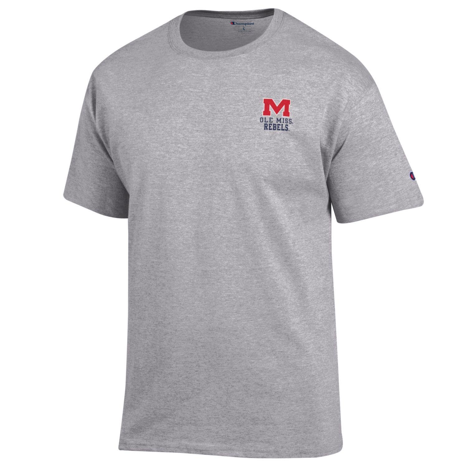 Champion NCAA Team Tagless Cotton Short Sleeve Front//Back Graphic Tee