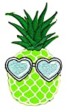 Green Pineapple Fruit Blue Fashion Heart Sunglasses
