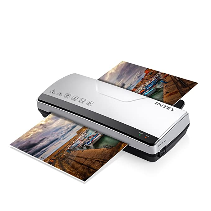 INTEY Thermal Laminator A4 with Two Roller System Fast Warm-up Quick Laminating Speed