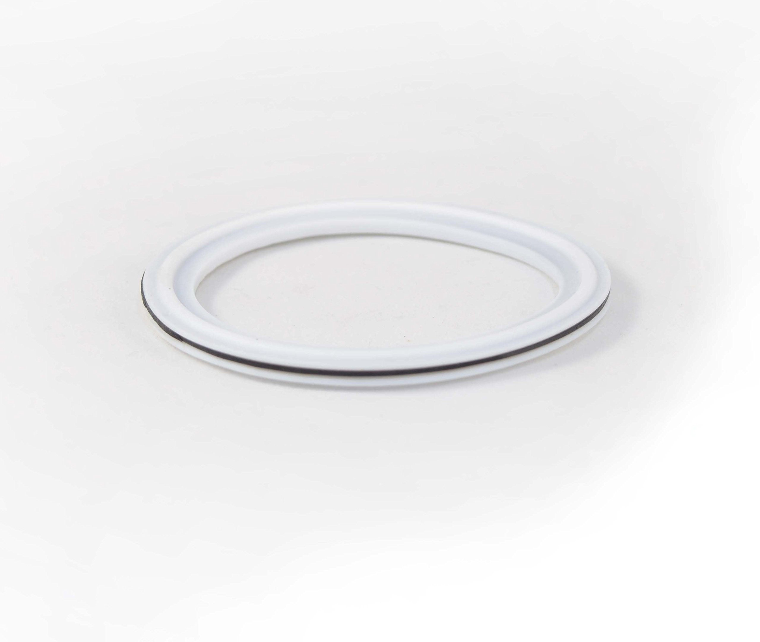 8'' Tri Clamp Envelope Gasket PTFE (Teflon) PTFE X EPDM Sanitary Pharmaceutical Grade High Elasticity VS PTFE Alone! IE Longer Life. FDA Certifications Provided For Both Materials by ARTESIAN SYSTEMS