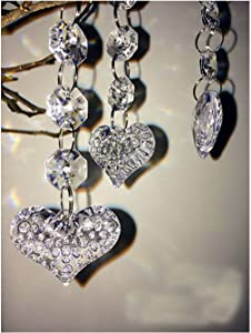 Jiangsheng Hot 30PCS Acrylic Crystal Beads Garland Chandelier Hanging Wedding Party Celebration Decor (Style 6)