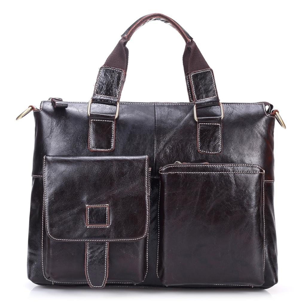 Men Vintage Leather Business Shoulder Handbag