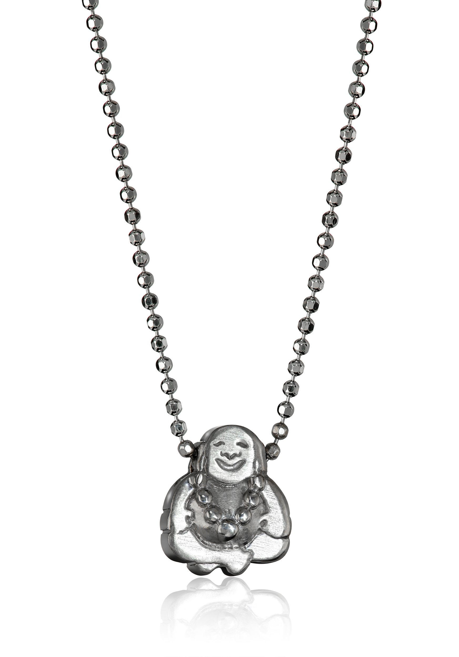 Alex Woo ''Little Faith'' Sterling Silver Buddha Pendant Necklace