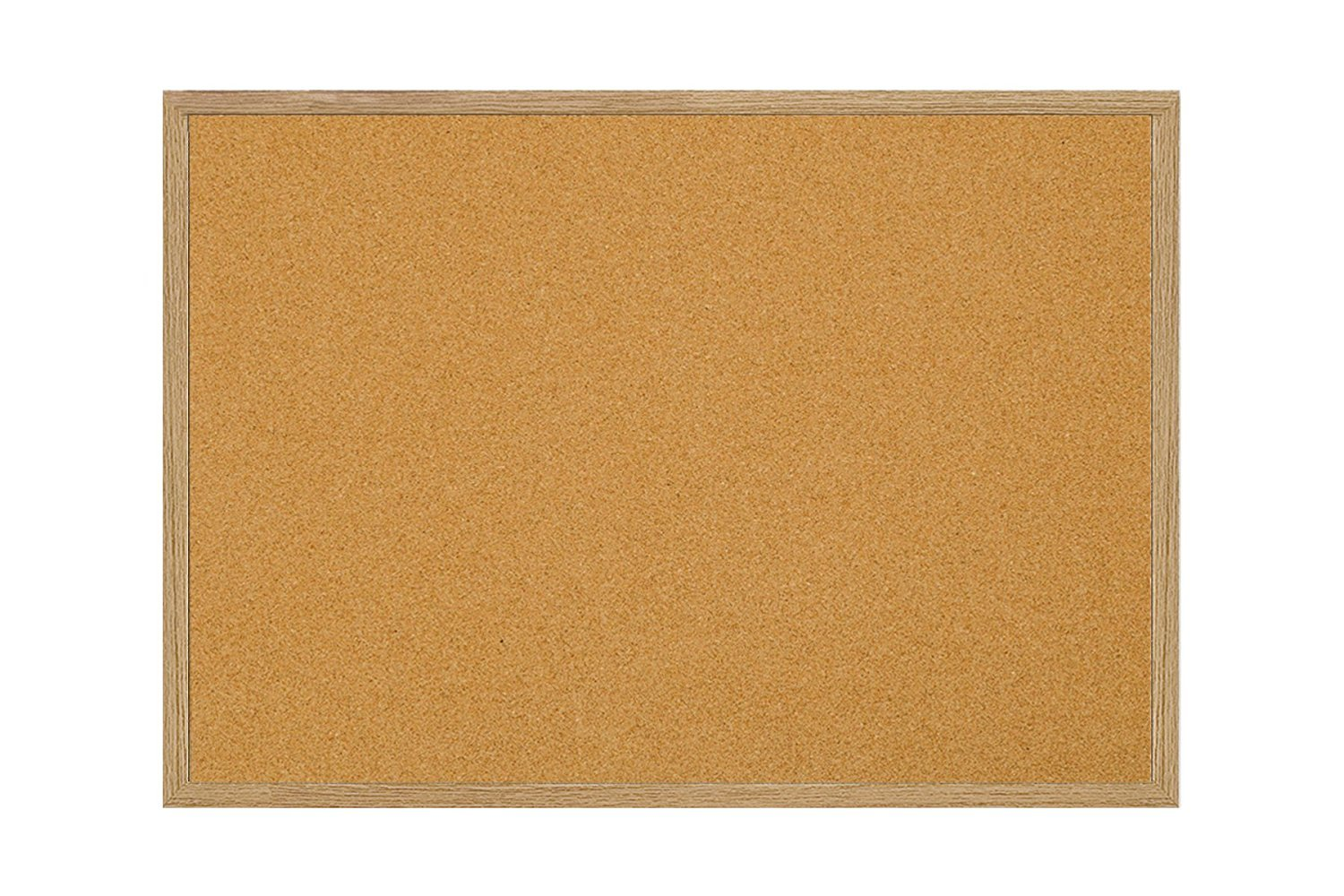 MasterVision Bulletin Board, Cork Board, Pin Board with Oak Frame, 24' x 36' 24 x 36 Bi-silque MC070014231