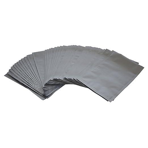 Fresherpack 100 piezas de 8 cm x 12 cm plata bolsa de papel ...