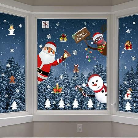 Decorazioni Natalizie Per Finestre Fai Da Te.Emageren Adesivi Per Finestre Di Natale Natale Adesivi Porta Natale Vetrofanie Adesivi Decorazione Addobbi Natalizi Adesivo Addobbi Fai Da Te Finestra Natale Adesivi Rimovibile Statico Adesivi Amazon It Casa E Cucina
