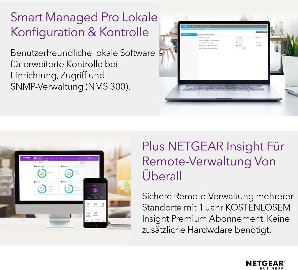 Netgear Gc108pp Gigabit 8 Port Ethernet Lan Switch Computer Zubehör