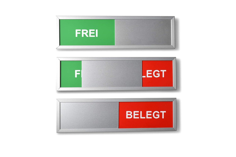 Sivoss 1 Cartel con Texto Frei - Belegt - Marco de Aluminio ...