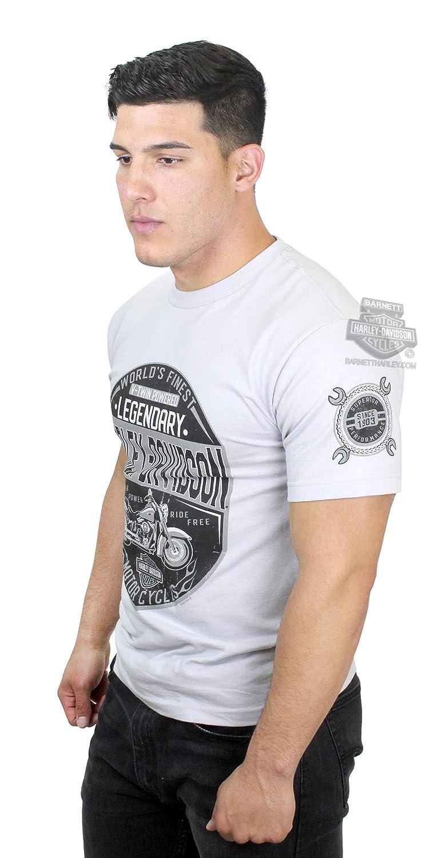 Harley-Davidson Mens Rumble Defenders Motorcycle Grey Short Sleeve T-Shirt