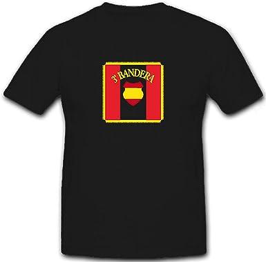 Shirtzshop 6645 - Camiseta, diseño de España con 3 banderas, color azul: Amazon.es: Ropa y accesorios