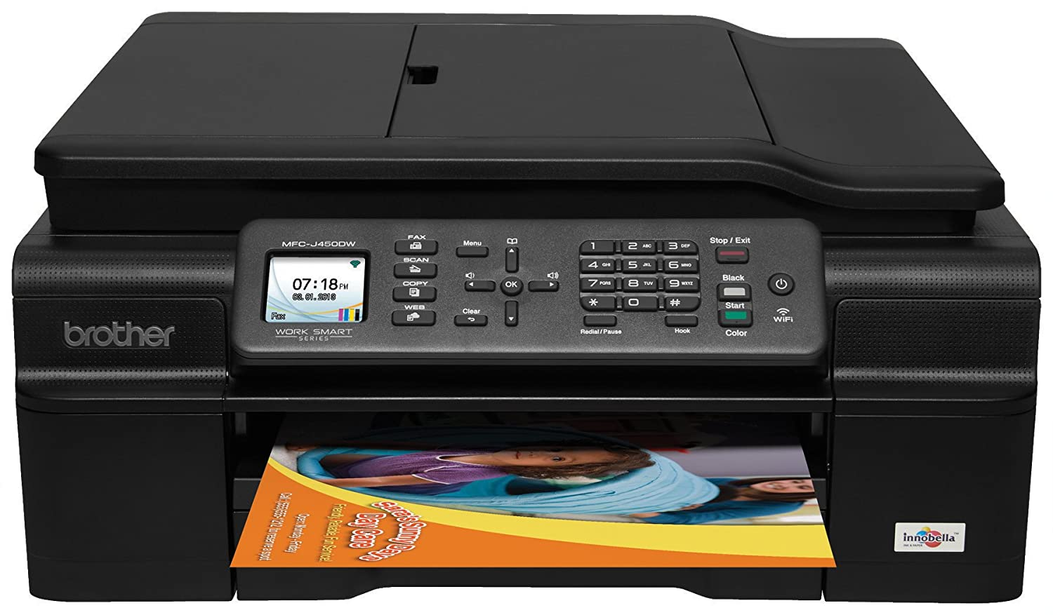 Amazon.com: Brother MFCJ450DW Wireless with Scanner, Copier and Fax Inkjet  Printer: Office Products